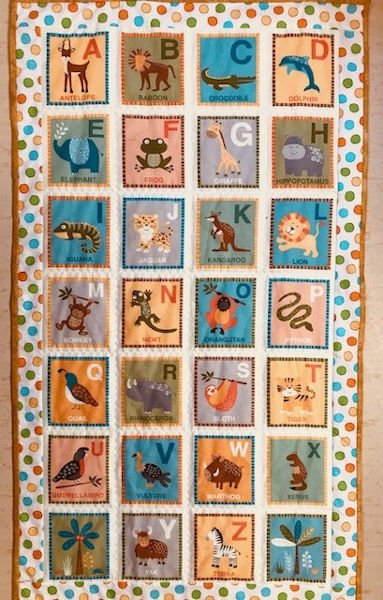 Green-Acres-Quilts-Jungle-Alphabet-baby-kids-quilt-kit