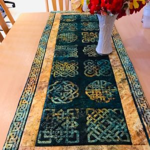 Green-acres-quilts-celtic-green-gold-table-runner-kit-complete