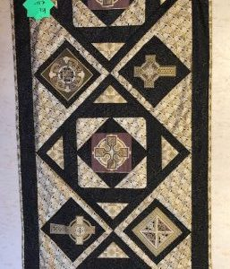 Green-acres-quilts-celtic-table-runner-quilt-complete