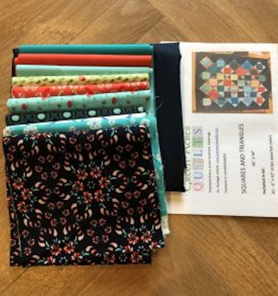 Green-acres-quilts-squares-and-triangles-quilt-kit-fabric