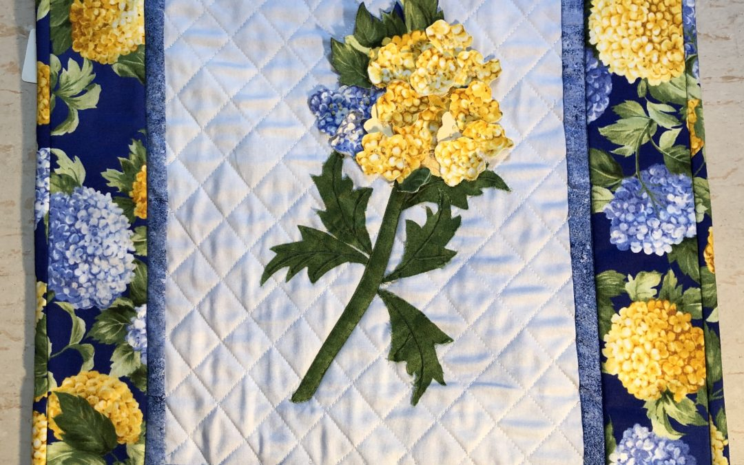 The Summer workshop for 7 and 9 July , a lovely 3D Hydrangea Wall hanging