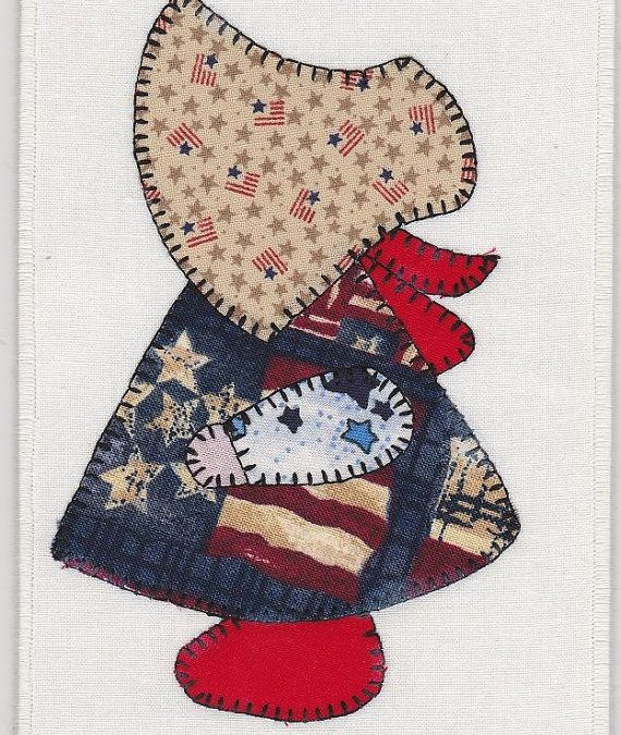 Summer workshop SunBonnet Sue , small wallhanging
